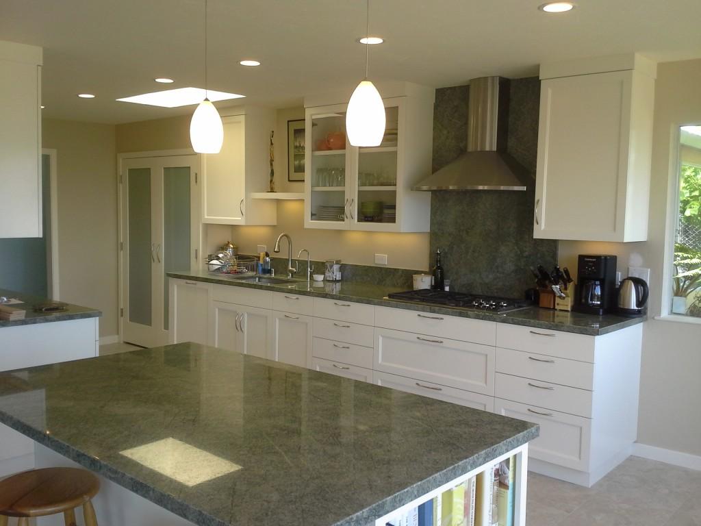 green granite kitchen remodel